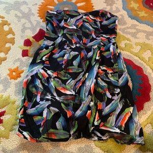 Volcom strapless dress large